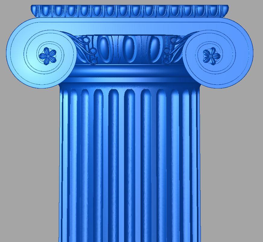 Ionique colonne en bois sur commande